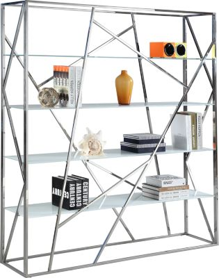 Chintaly Contemporary Glass Bookcase