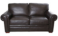 Craftmaster Savoy 100% Leather Loveseat