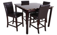Crown Mark Pompeii 5-Piece Counter-Height Dining Set