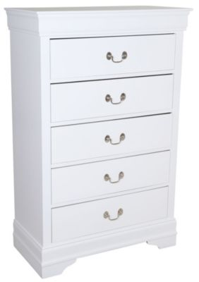 Crown Mark Louis Philippe White Chest
