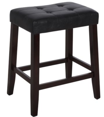Crown Mark Kent Black Vinyl Counter Stool
