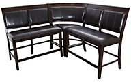 Crown Mark Harrison 3-Piece Corner Counter Bench
