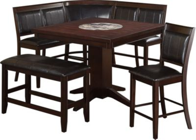 Crown mark harrison 4 piece dining set homemakers furniture for 4 piece dining room set