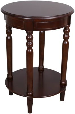Crown Mark Laurel Espresso Chairside Table