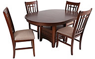 Crown Mark Empire Table & 4 Chairs