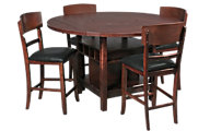 Crown Mark Conner 5-Piece Counter-Height Drop Leaf Dining Set