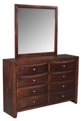 Crown Mark Emily Espresso Dresser with Mirror