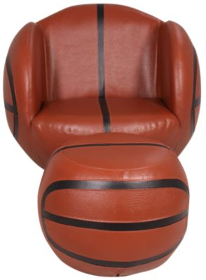 Crown Mark Basketball Chair & Ottoman