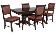 Crown Mark Merlot 5-Piece Dining Set