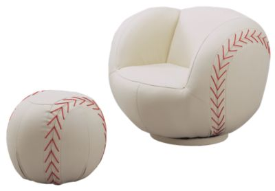 Crown Mark Baseball Chair & Ottoman
