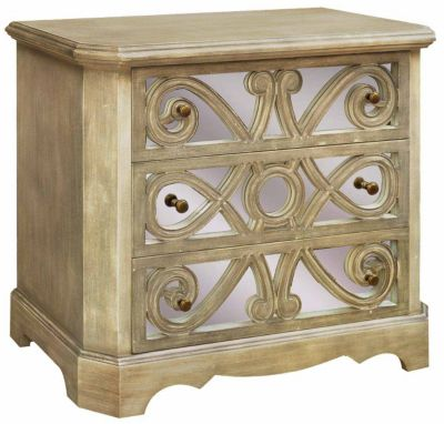 Crestview Ashlynn 3-Drawer Mirrored Chest