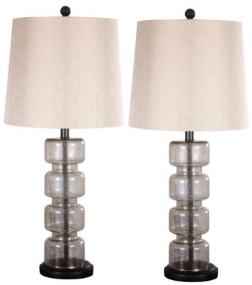 Crestview Lennox Table Lamps (Set of 2)