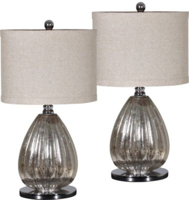 Crestview Stardust Table Lamps (Set of 2)