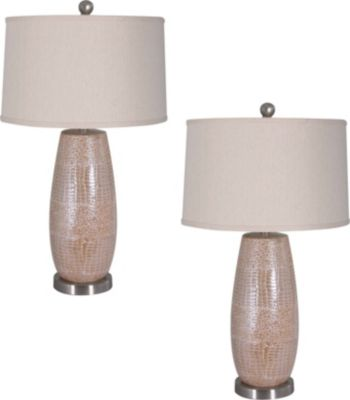 Crestview Melrose Table Lamps (Set of 2)