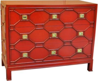Crestview Crestwood Chippendale Style 3-Drawer Chest