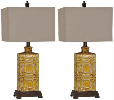Crestview Chatham Table Lamps, Set of 2