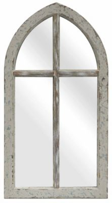Crestview Antique Cathedral Wood Mirror