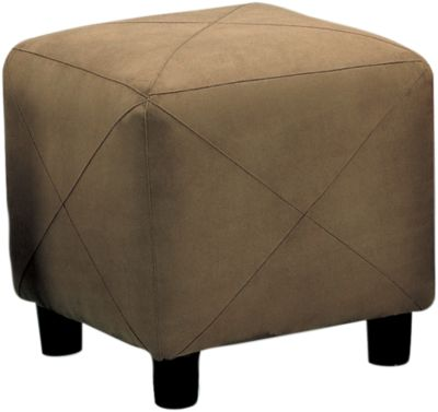 Coaster 500 Collection Microfiber Ottoman