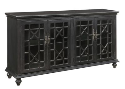 Coast To Coast Black 4-Door Media Credenza