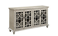 Coast To Coast Ivory 4-Door Media Credenza