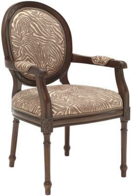 Coast To Coast Accent Collection Round Animal Print Accent Chair