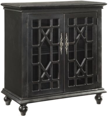 Coast To Coast Black 2-Door Cabinet