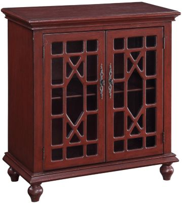 Coast To Coast Red 2-Door Cabinet