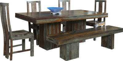 Coast To Coast Grayson Table, 4 Chairs & 1 Bench