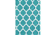Central Oriental Sanborn Teal/White 5' x 8'
