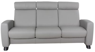 Ekornes 100% Leather High-Back Sofa