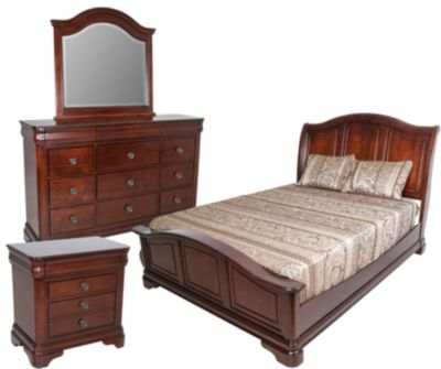 Elements international group cameron 4 piece queen bedroom set homemakers furniture Elements cameron bedroom set