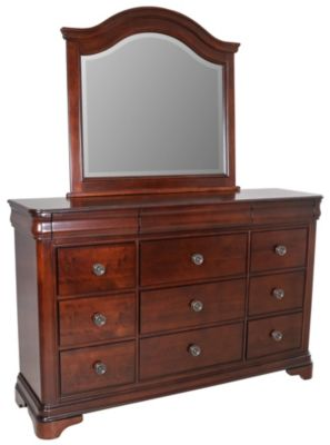 Elements international group cameron dresser with mirror Elements cameron bedroom set