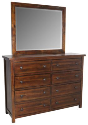 Elements International Group Dawson Creek Dresser with Mirror