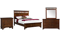 Elements International Group Woodlands 4-Piece Queen Bedroom Set