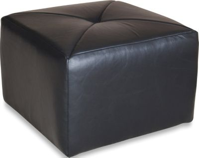 England Linwood 100% Leather Cube Ottoman