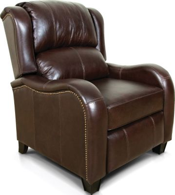 England Leonard Espresso 100% Leather Press-back Recliner