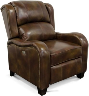 England Leonard 100% Leather Power Recliner