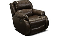 England Litton Leather Power Rocker Recliner