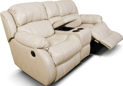 England Litton Leather Rocking Reclining Loveseat