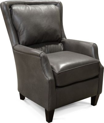 England Louis Gray 100% Leather Accent Chair