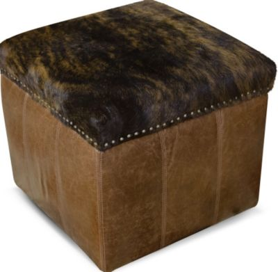 England Hollie Leather Storage Ottoman