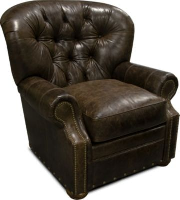 England Lourdes 100% Leather Accent Chair