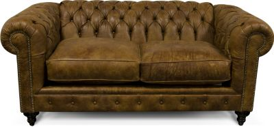 England Lucy 100% Leather Loveseat