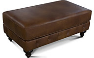 England Lucy 100% Leather Ottoman