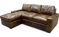 England Loyston 2-Piece 100% Leather Sofa Chaise