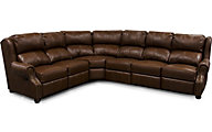 England Lucia 4-Piece 100% Leather Reclining Sectional