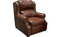 England Lucia Chocolate 100% Leather Accent Chair