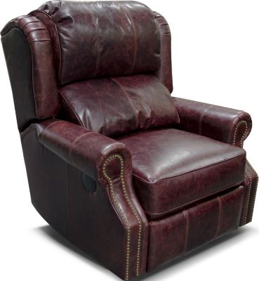 England Lucia 100% Leather Rocker Recliner