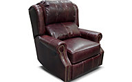England Lucia 100% Leather Power Rocker Recliner
