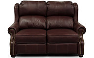 England Lucia Rosetta 100% Leather Reclining Loveseat